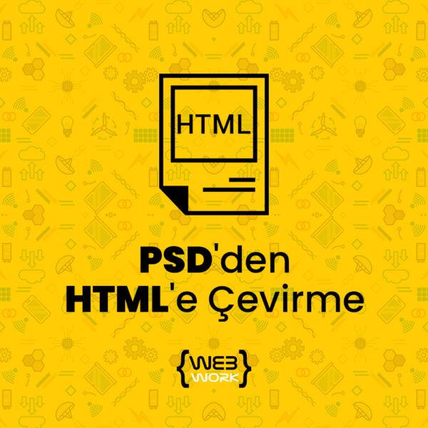 Psd'den HTML'e Çevirme